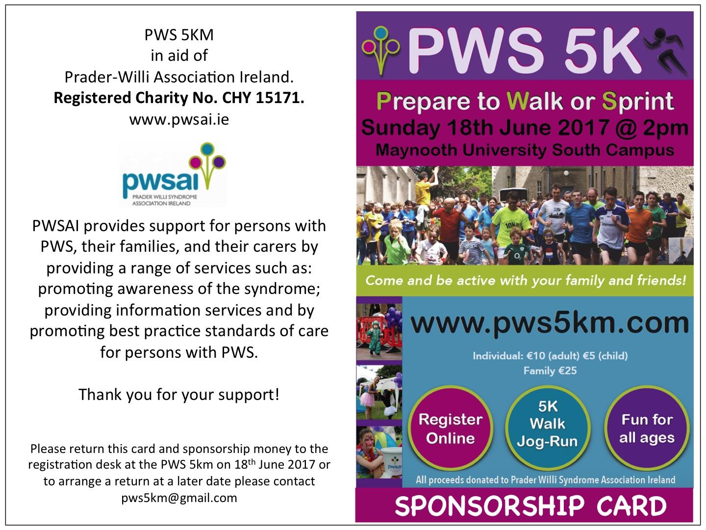 Sponsorship Cards PWS 5km